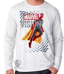 Camiseta Manga Longa Visão Vingadores perfil