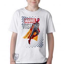 Camiseta Infantil Visão Vingadores perfil
