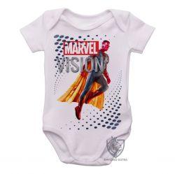 Roupa Bebê Visão Vingadores perfil