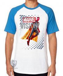 Camiseta Raglan Visão Vingadores perfil