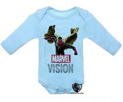 Roupa Bebê manga longa Visão Vingadores voando