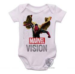 Roupa Bebê Visão Vingadores voando