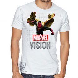Camiseta Visão Vingadores voando