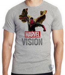 Camiseta Infantil Visão Vingadores voando