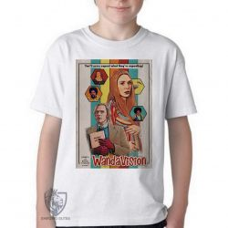 Camiseta Infantil Wanda Vison papel