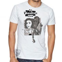 Camiseta WandaVision desenho antigo