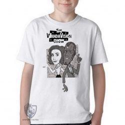 Camiseta Infantil WandaVision desenho antigo