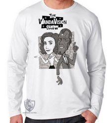 Camiseta Manga Longa WandaVision desenho antigo