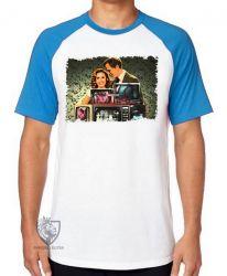 Camiseta Raglan WandaVision monitores