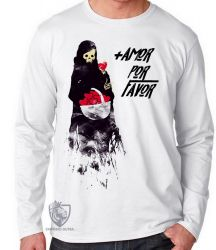 Camiseta Manga Longa + amor por favor