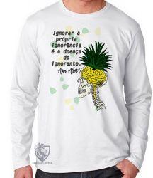 Camiseta Manga Longa Amos Alcott ignorância