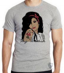 Camiseta Amy Winehouse retrô
