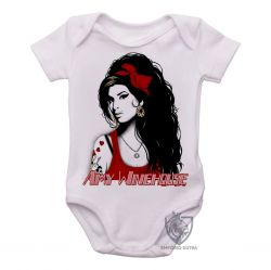 Roupa Bebê Amy Winehouse vermelho