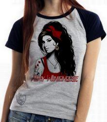 Blusa Feminina Amy Winehouse vermelho