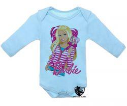 Roupa Bebê manga longa Barbie coração