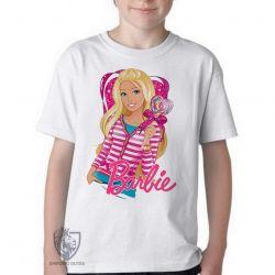 Camiseta Infantil Barbie coração
