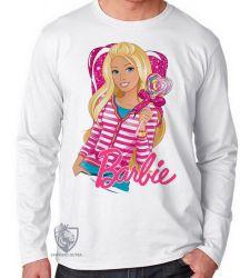 Camiseta Manga Longa Barbie coração