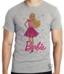 Camiseta Infantil Barbie rosa