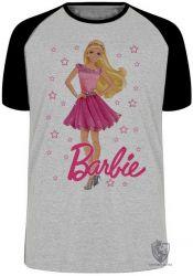 Camiseta Raglan Barbie rosa