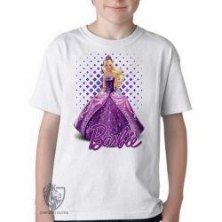 Camiseta Infantil Barbie roxa