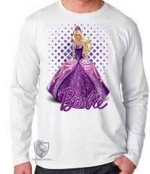 Camiseta Manga Longa Barbie roxa