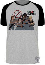 Camiseta Raglan Caça Fantasmas mulheres