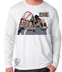 Camiseta Manga Longa Caça Fantasmas mulheres