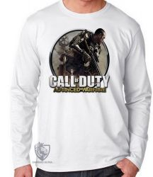 Camiseta Manga Longa Call of Duty  advanced warfare