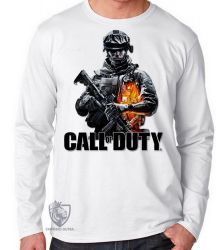 Camiseta Manga Longa Call of Duty  soldado