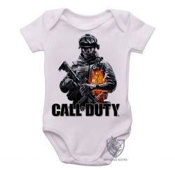 Roupa Bebê Call of Duty  soldado