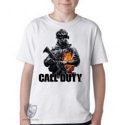 Camiseta Infantil Call of Duty  soldado