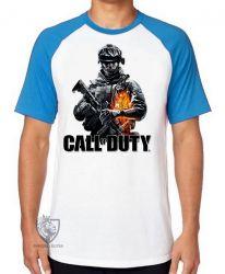 Camiseta Raglan Call of Duty  soldado