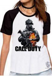 Blusa Feminina Call of Duty  soldado