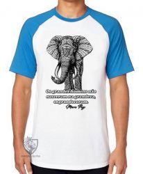Camiseta Raglan Elefante Mario Puzo