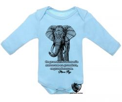 Roupa Bebê manga longa Elefante Mario Puzo