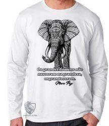 Camiseta Manga Longa Elefante Mario Puzo