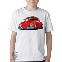 Camiseta Infantil Fusca vermelho 1973