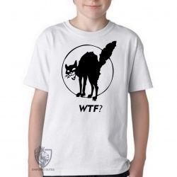 Camiseta Infantil Gato WTF