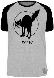 Camiseta Raglan Gato WTF