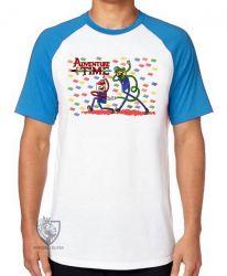 Camiseta Raglan Jake Finn Mario Luigi