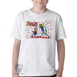 Camiseta Infantil Jake Finn Mario Luigi